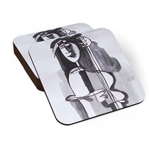 PosterGuy-Warrior-Poet-Illustration-Coaster-Set-of-6-0