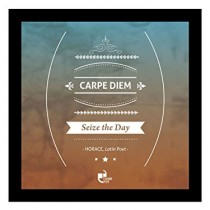 Thinkpot-Carpe-diem-seize-the-day-Horace-Latin-Poet-Black-Square-Frame-0